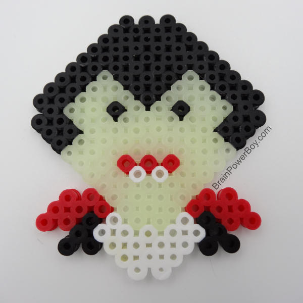 Completed Dracula Perler Bead Project!