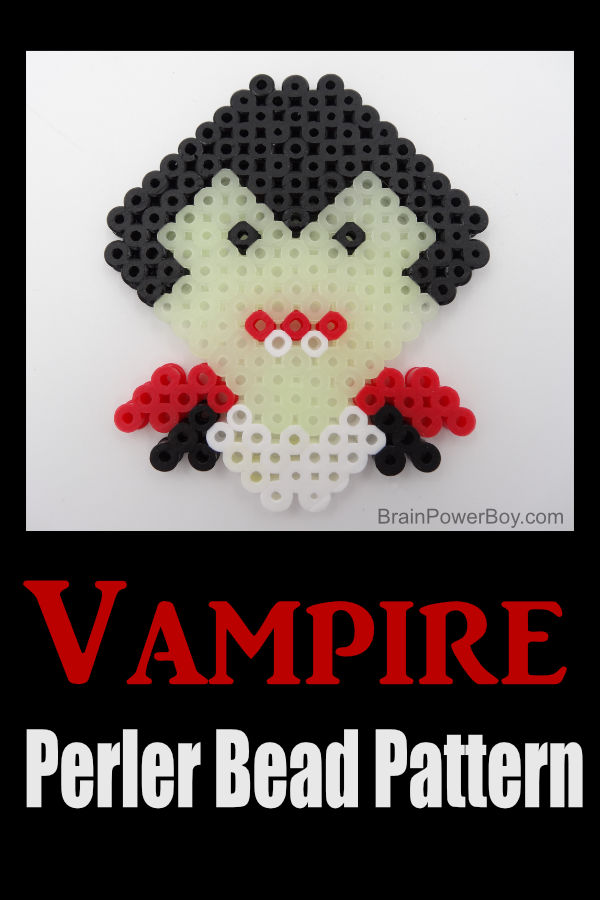 Vampire Perler Bead Pattern – Glow in the Dark!