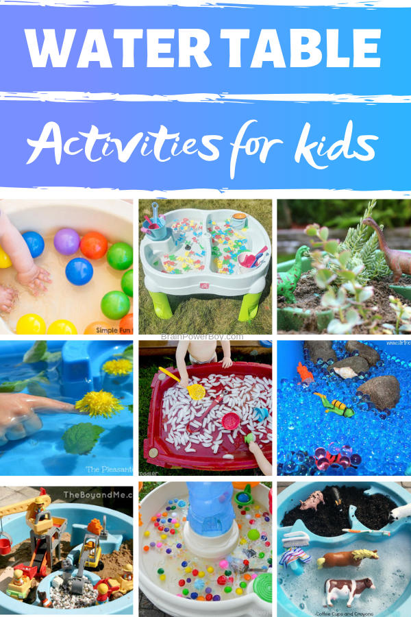 Incredibly fun water table activities for kids. Toddlers, preschoolers those in kindergarten and even older will really love these fun ideas.