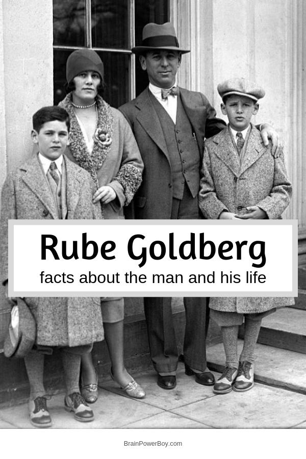 Facts about Rube Goldberg. If you are interested in Rube Goldberg machines then your will enjoy learning about Rube Goldberg the man. Who was Rube Goldberg? Where was he born? What was his profession? Why did Rube Goldberg get hate letters? We answer all of these questions and more.