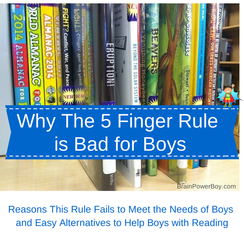 Why The 5 Finger Rule is Bad for Boys: Reasons You Should Skip This Rule and Easy Ways to Help Boys With Reading.