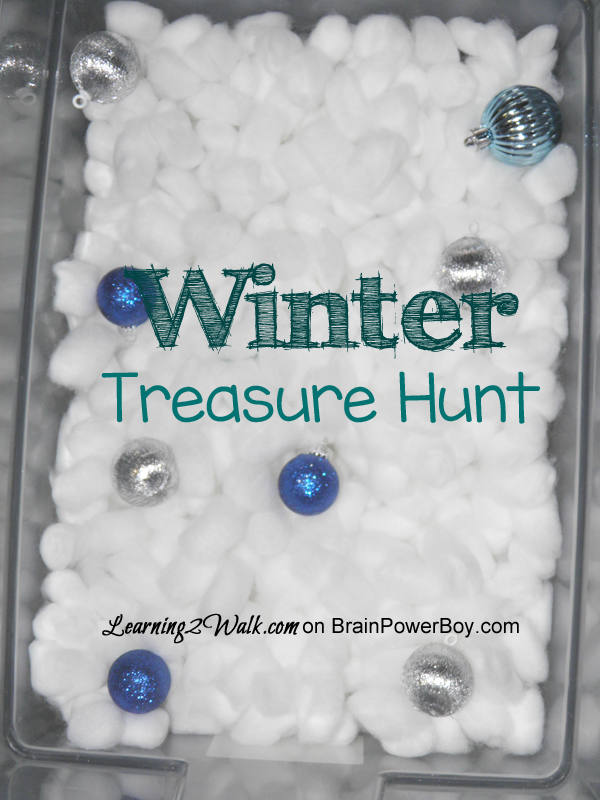 Go on a treasure hunt in the snow with this Winter Preschool Activity bin. Use real snow or cotton balls for a fun adventure.