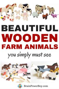 You have to see these wonderful Wooden Farm Animals. There are a lot of different sets featured and each one is unique. I just love wooden toys. Oh, and there are handmade wooden animals as well!