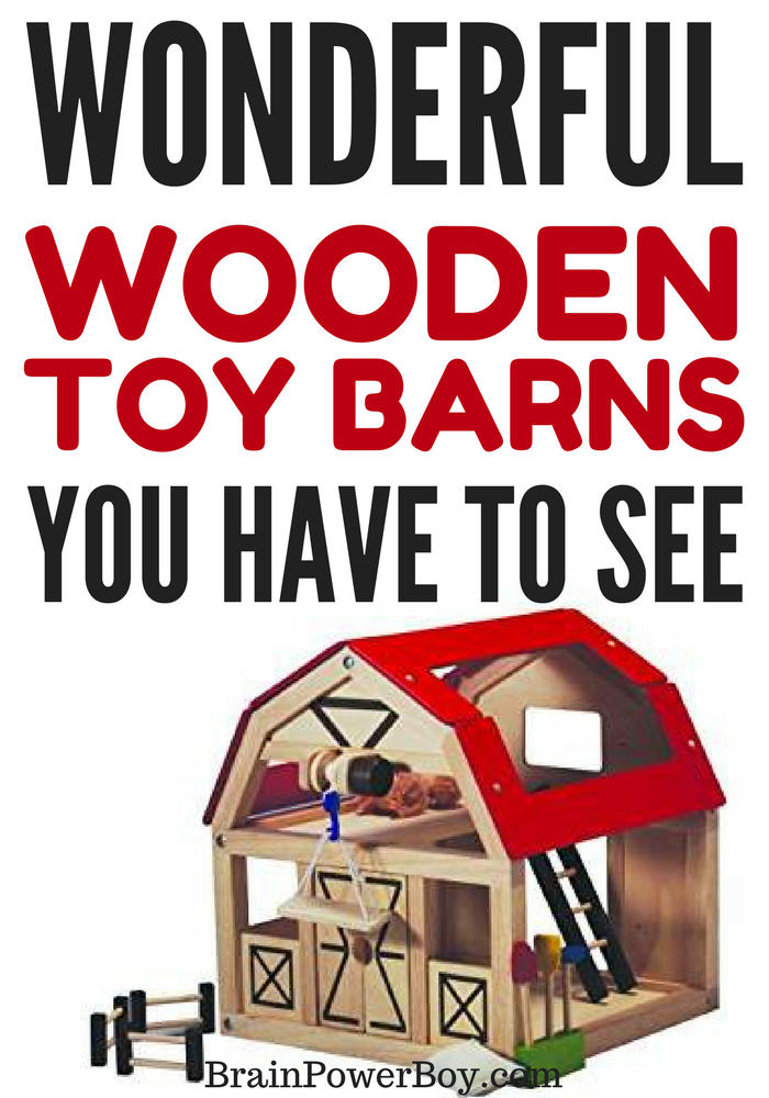 Wooden toy barns are the perfect gift for an animal or farm loving boy. See these excellent, high quality barns by clicking the picture.