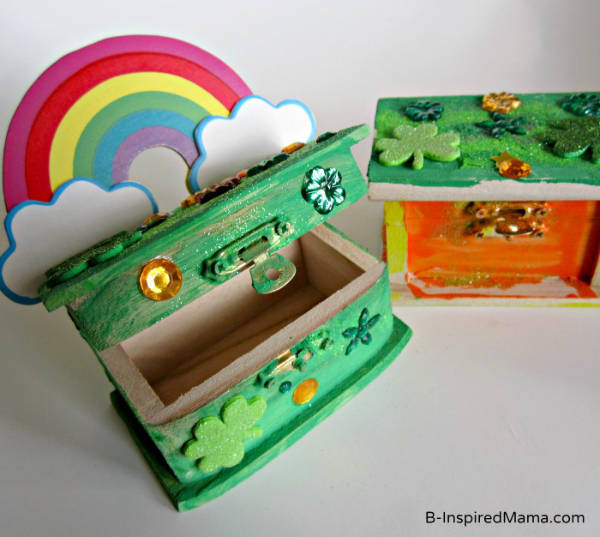 Wooden Treasure Box to Catch Leprechauns