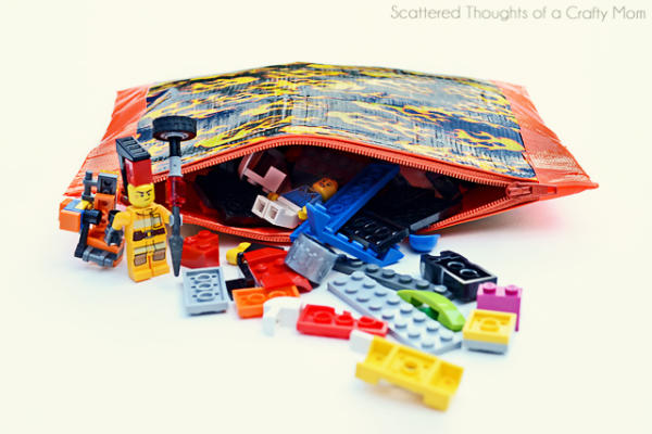 Zippered Pouch for LEGO