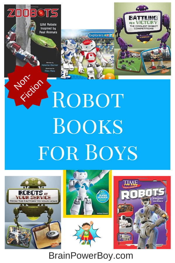 Best Books for Boys: Robots