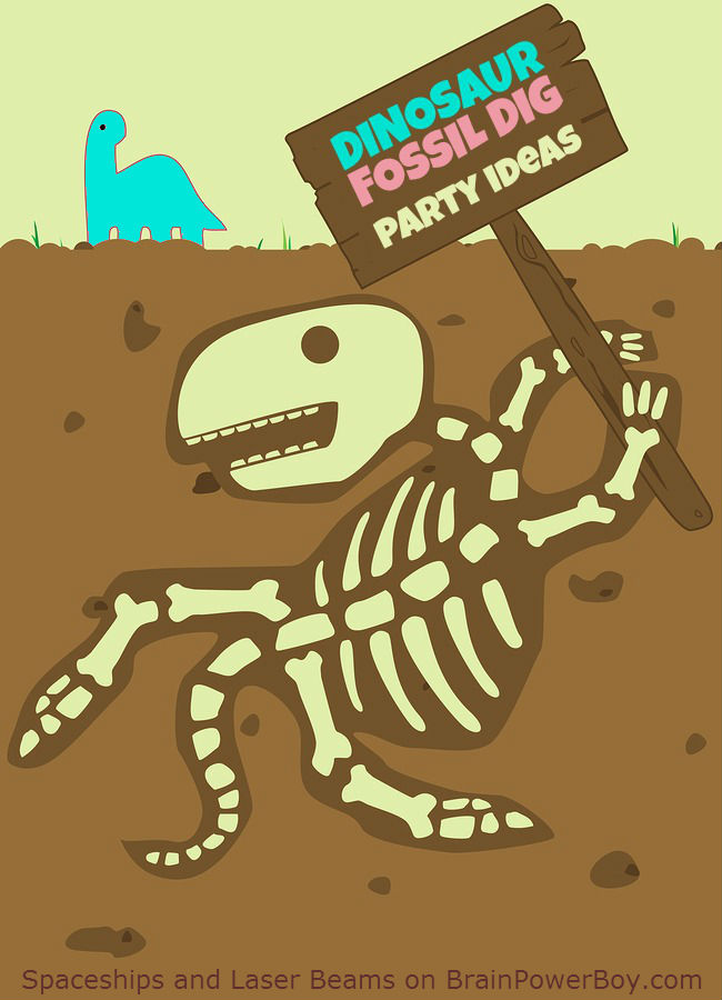 Dinosaur Fossil Dig Party Tips that will help you have the best fossil dig party ever. Get ideas for invitations, scenery, the dig, refreshments and party favors. Your dinosaur fan will love this party!