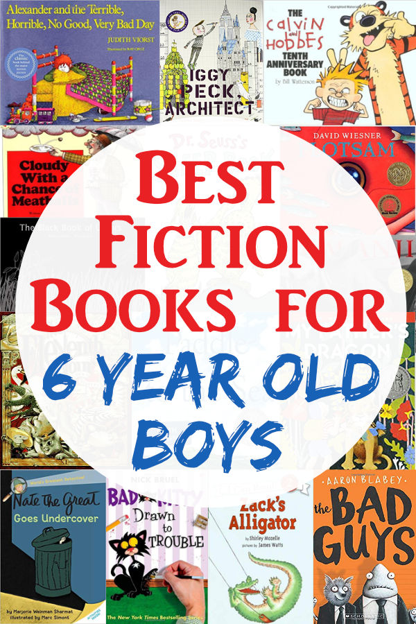 Have a 6 year old boy? Grab the best fiction books for boys age six. They will love them!!