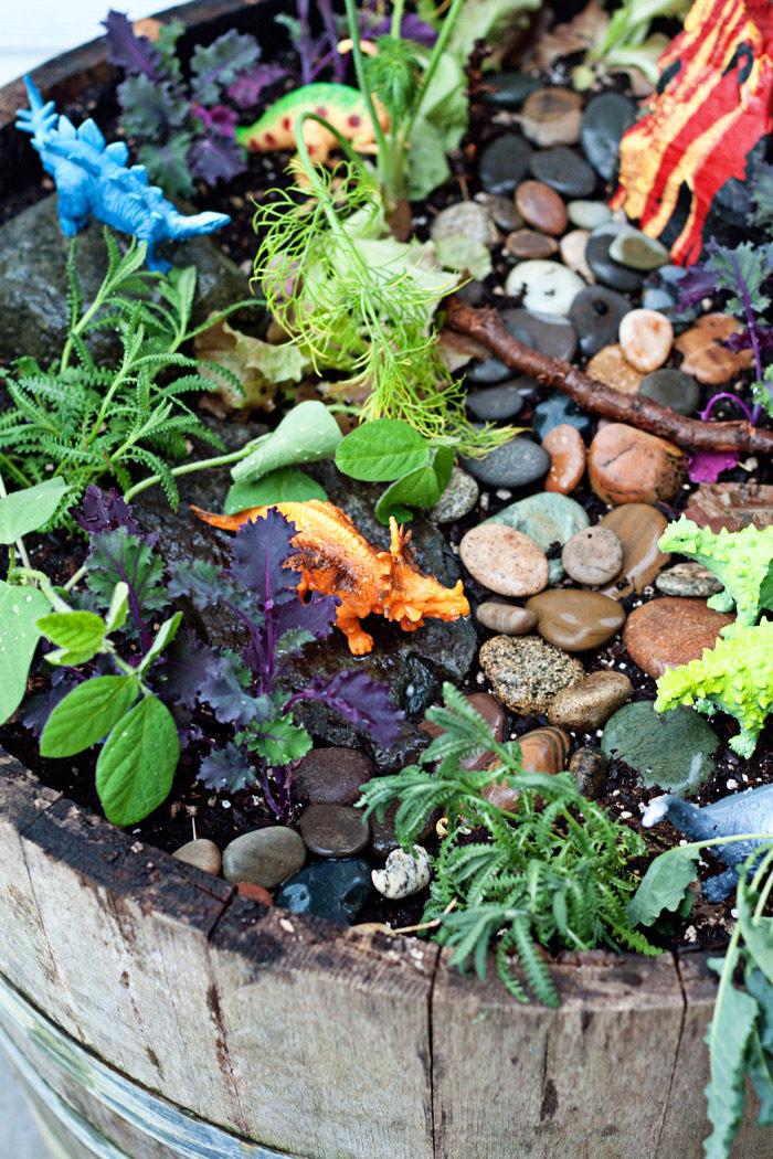 Dinosaur Garden with Herbs