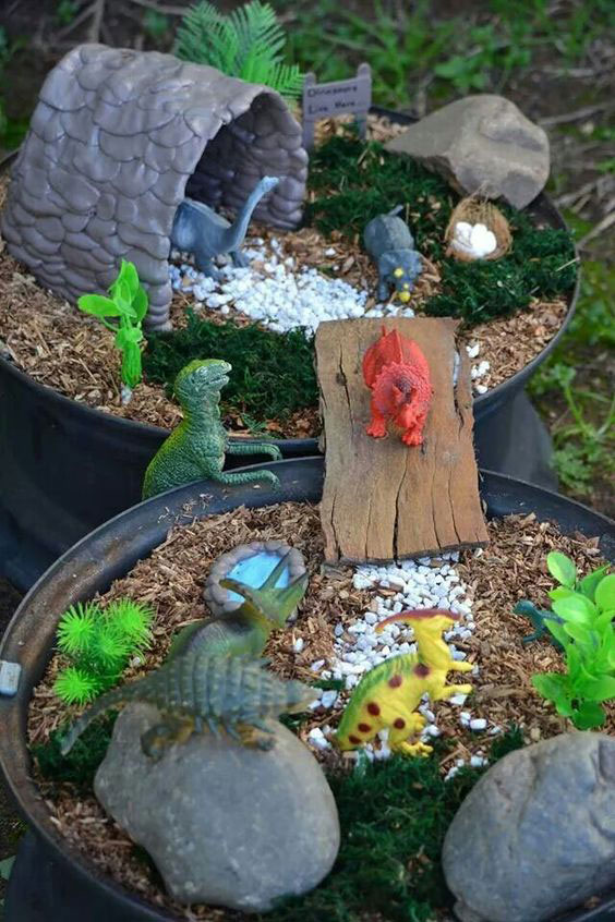 13 cool fairy gardens for boys to make they are going to