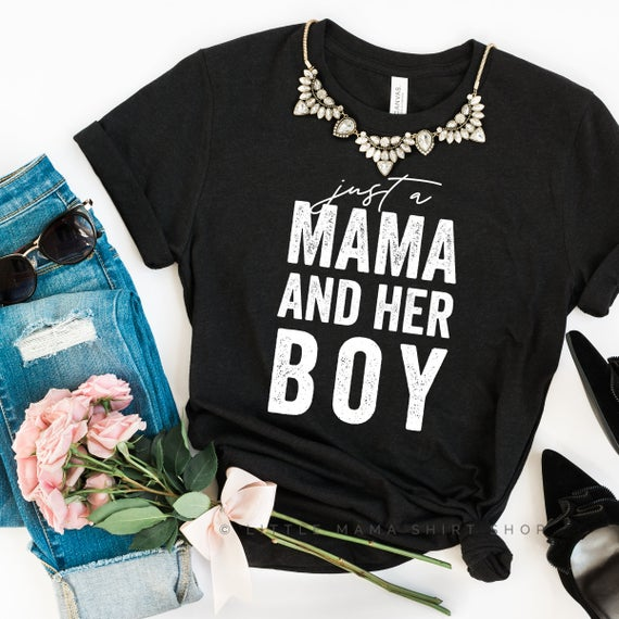 Great Shirt for Mom of One Boy