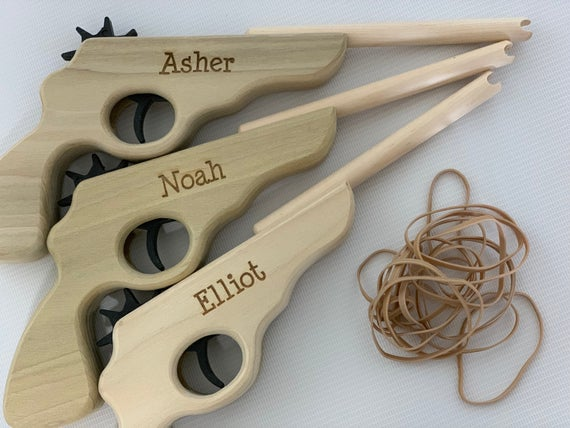 Rubber Band Gun with Name