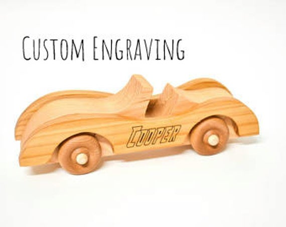Personalized Wooden Car