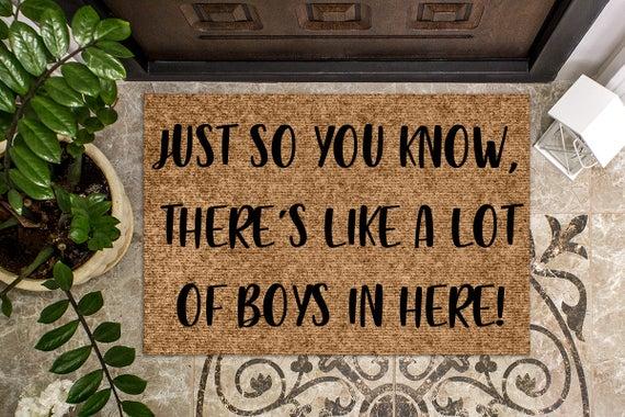 A Lot of Boys Door Mat