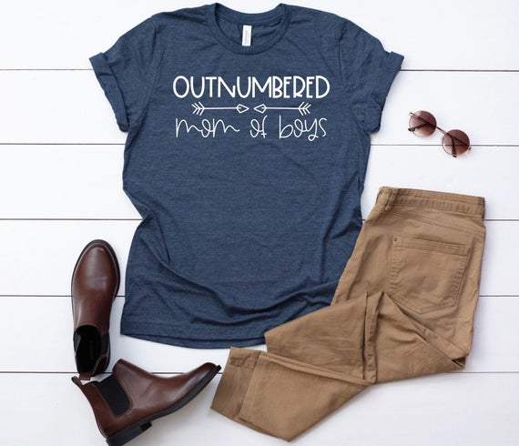 Outnumbered Mom Of Boys Women's T-Shirt