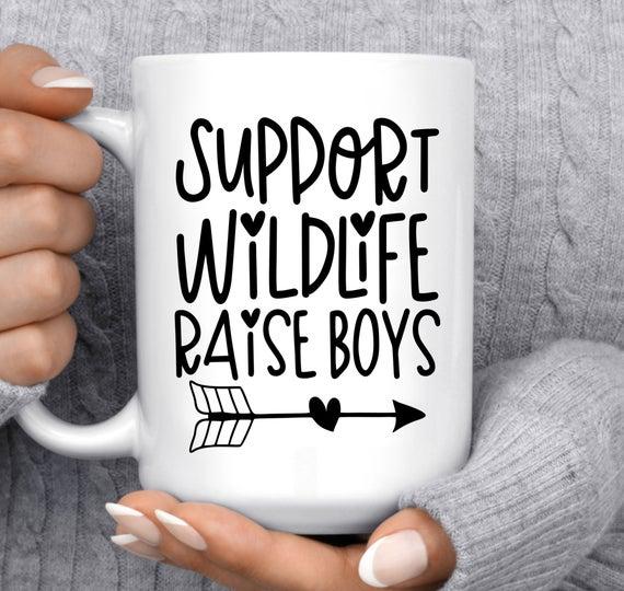 Support Wildlife Raise Boys Mug