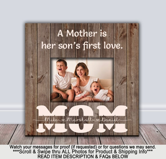 Custom Mother Son Frame