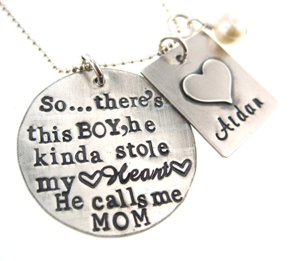 There's This Boy Who Stole My Heart Mother & Son Necklace