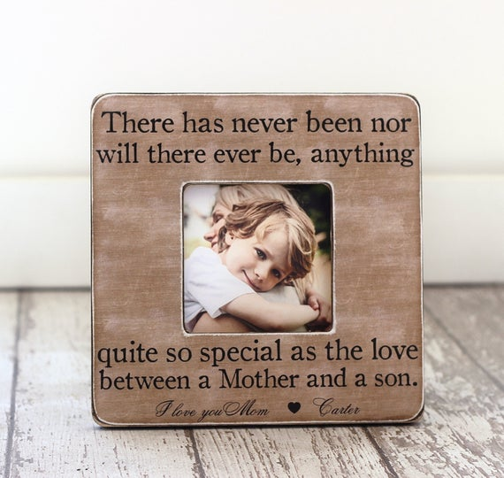 Mother Son Personalized Picture Frame