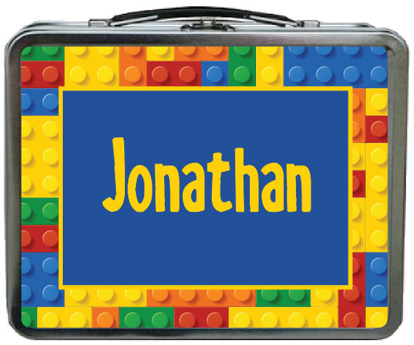 LEGO Lunchbox with Custom Text