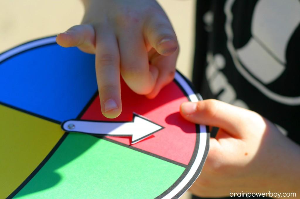 printable game spinner