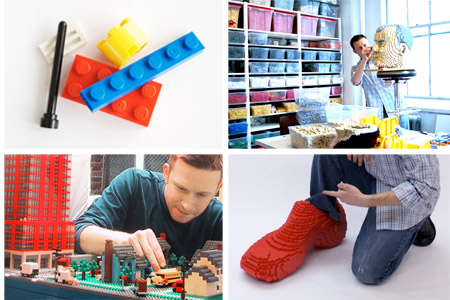 LEGO 4 pictures Sean Kenney working