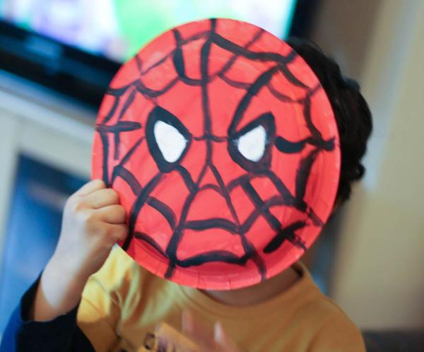 spider man paper plate