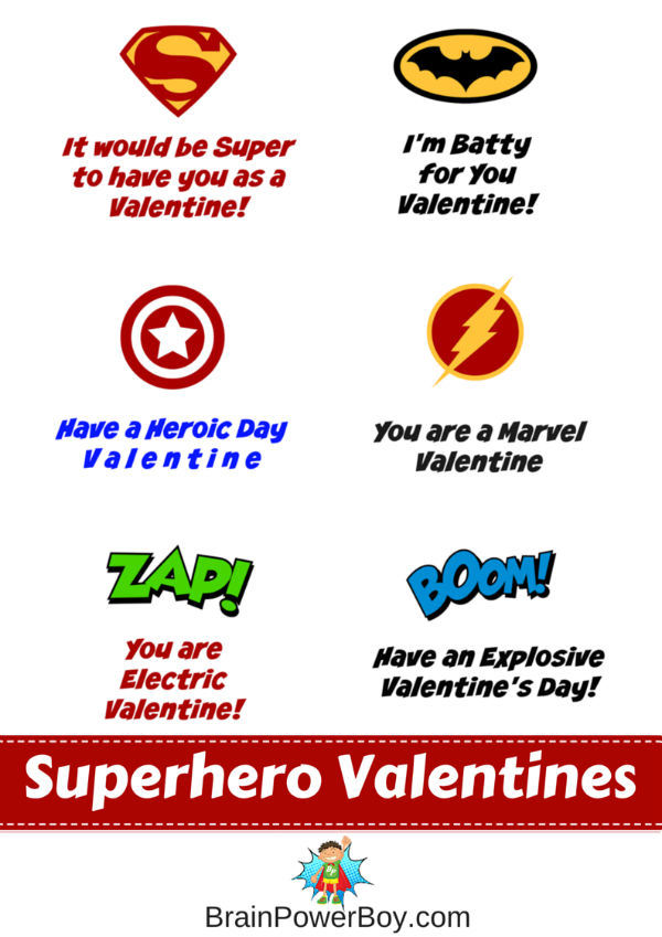 Does your boy love superheroes? Get these free printable Superhero Valentines today.