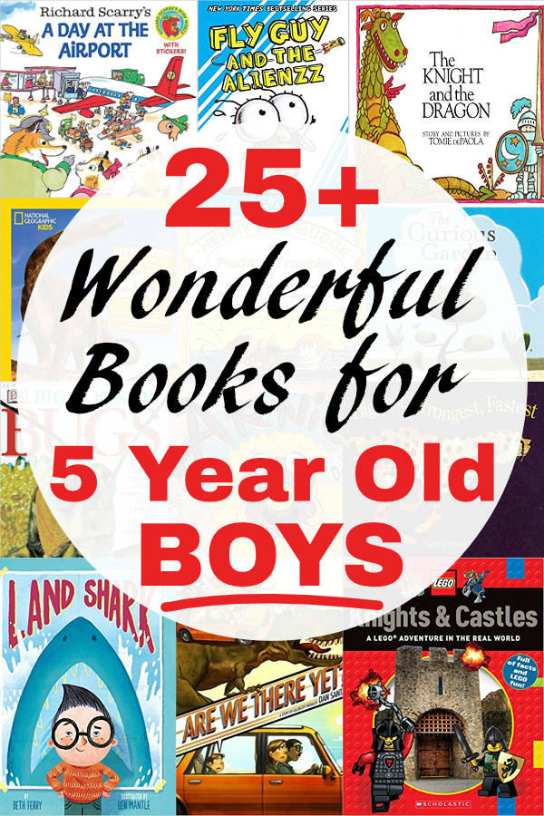 You do not want to miss this list of wonderful books for 5 year old boys. This hand-picked and annotated list will give you the very best ideas for books for your boy age 5.