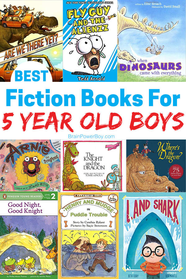 List of the very best fiction books for 5 year old boys! These are books they will want to read again and again. (and they make great gifts!!) Click or tap to see the whole list.